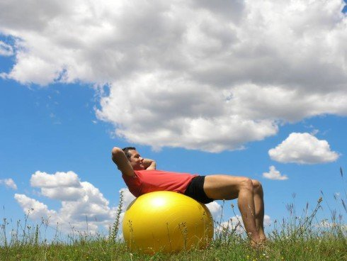 Ab Workout WIth Exercise Ball